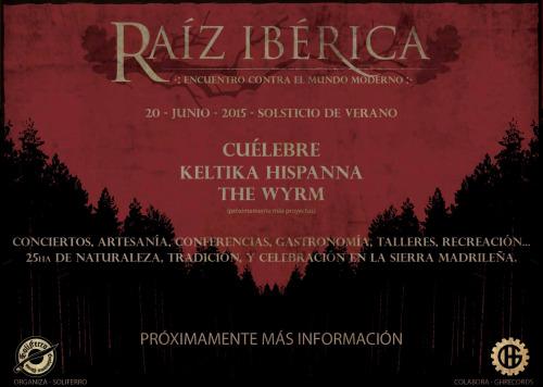Póster Festival Raíz Ibérica 2015
